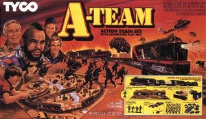 TYCO A-Team Train Set 1984