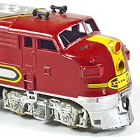 Santa Fe F7A Diesel by Penn Line